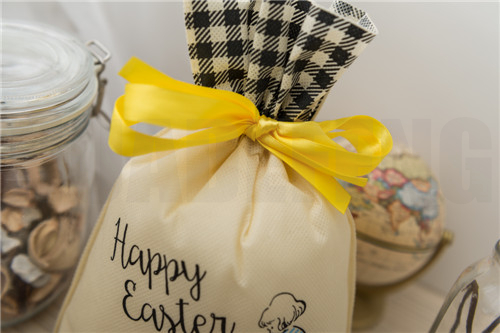 HuaDeFeng-Manufacturer Of Easter Gift Bags Beige Non Woven Drawstring Bags-4