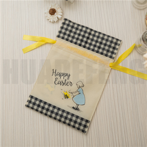 HuaDeFeng-Manufacturer Of Easter Gift Bags Beige Non Woven Drawstring Bags-6