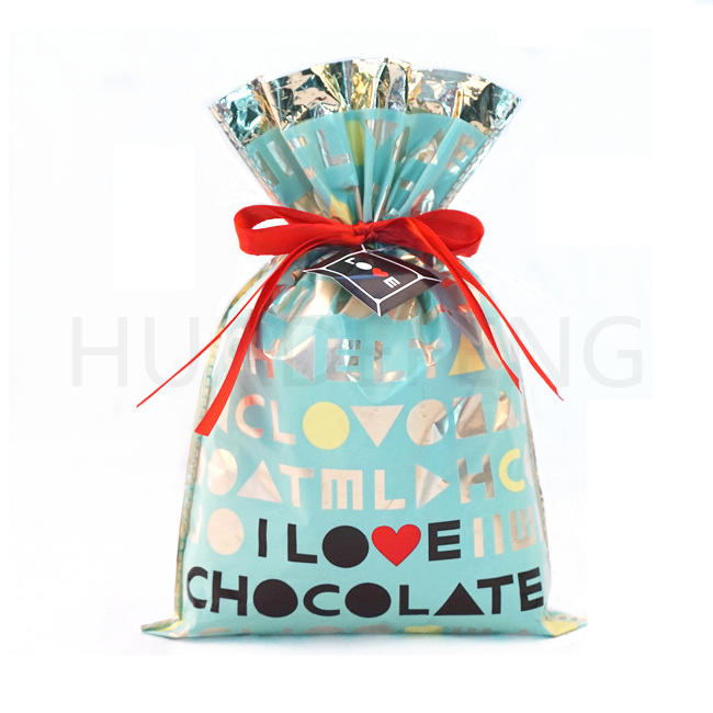 Blue PE And CPP Aluminizer Valentine's Day Gift Accessories Bag