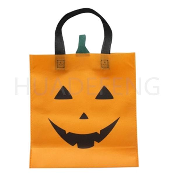 Orange Pumkin Non Woven Gift Shopping  Bag Halloween Bag Custom Logo Factory